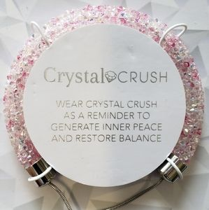 Crystal crush clear and pink bracelet